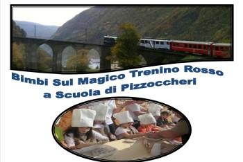 IMMAGINE COPERTINA Bimbi sul Magico Trenino Rosso a Scuola di Pizzoccheri oriz